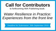 Call for Contributors: Water Resilience in Practice
