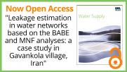 Water Supply Editor's Choice Papers now Open Access!