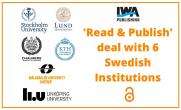 IWA Publishing Signs 'Read & Publish' Deal with 6 Swedish Institutions